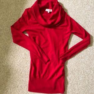 Swoop neck red sweater NWOT